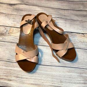 ASOS Hall Heel Dusty Rose Clog Sandal Size 39